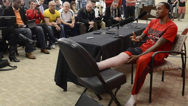 """""""I'm truly blessed"""": Kevin Ware."""