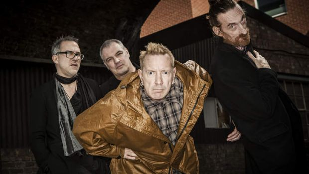Grumpy old men: John Lydon (centre) with the current incarnation of Public image Ltd, touring nationally.