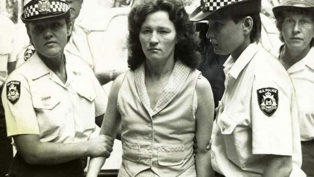 Serial killer Catherine Birnie in custody in 1985.