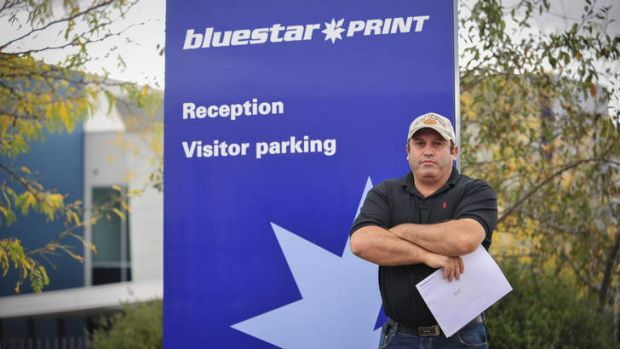 SHOCKED:  Former night shift supervisor Frank Madaffari had worked at Blue Star for 24 years.
