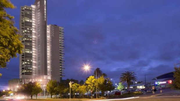 An artist's impression of the $75 million Belconnen apartment towers.