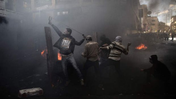 Palestinian demonstrators clashed with Israeli security forces.