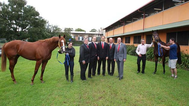 The tyro owners and the syndicators: John Saunders, Triple Crown's Chris and Michael Ward, and John Hezlett and Steve ...