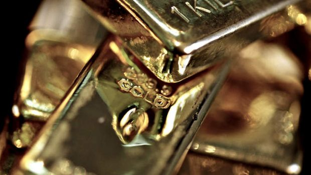 Downward trend: Gold futures for June delivery were down 1.4 per cent, continuing a 7.3 per cent fall this year.