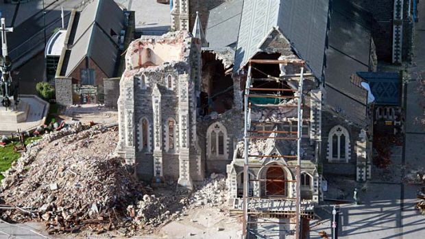 The earthquake-ravaged ChristChurch Cathedral.