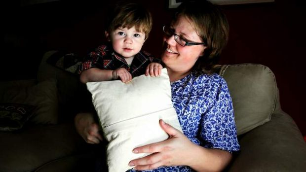 Gift of life: Kelly Osterberg and her son Wyatt, an IVF baby conceived with donor sperm.