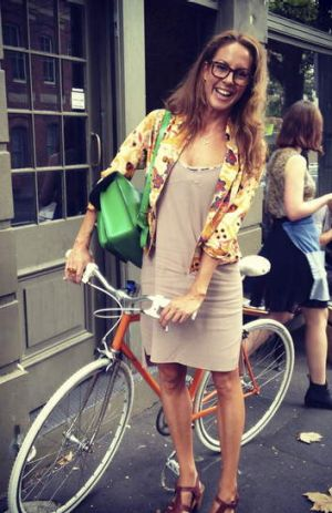 According to Sarah Wilson, Canberra women need not worry about what they wear on the bike.