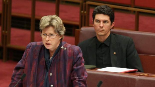 Greens senators Christine Milne and Scott Ludlam.