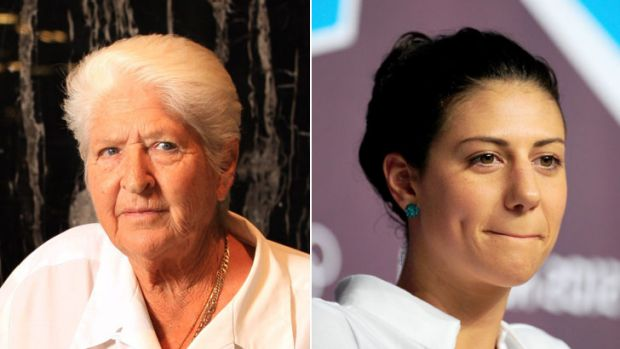 Conflict: Dawn Fraser, left, and Stephanie Rice.