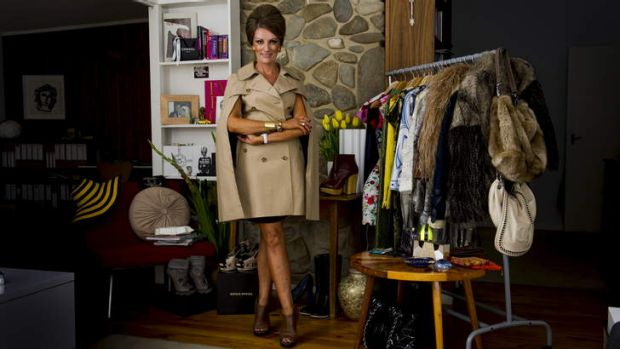 Former ASIO officer turned fashion consultant Sarah Kelly at her home in Deakin.