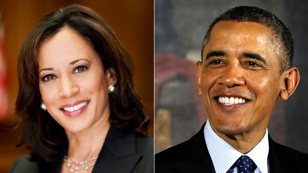 Comments: California's Attorney-General Kamala Harris, whose looks were praised by Barack Obama (right).