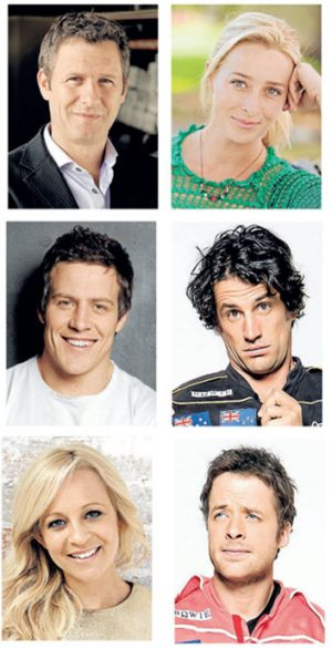 Gold Logie nominees, clockwise from top right; Adam Hills, Asher Keddie, Andy Lee, Hamish Blake, Carrie Bickmore and ...