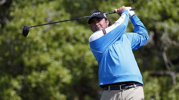 Steven Bowditch at the second hole during the third round of the Valero Texas Open on Saturday.
