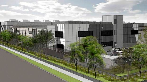 An artist's impression of the Metronode data centre in