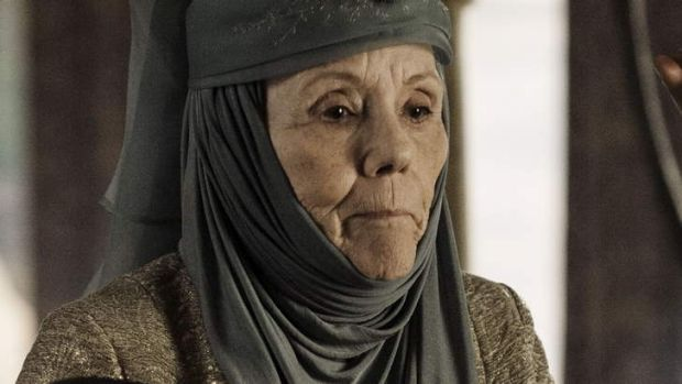 Scene stealer ... Diana Rigg in Game of Thrones as Queen of Thorns (Lady Oleanna Tyrell).