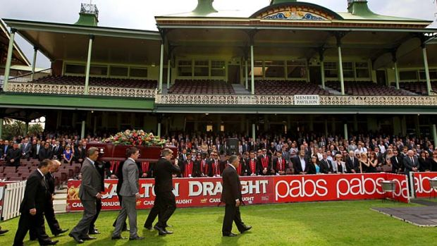 Fitting farewell: More than 600 gathered at the SCG.