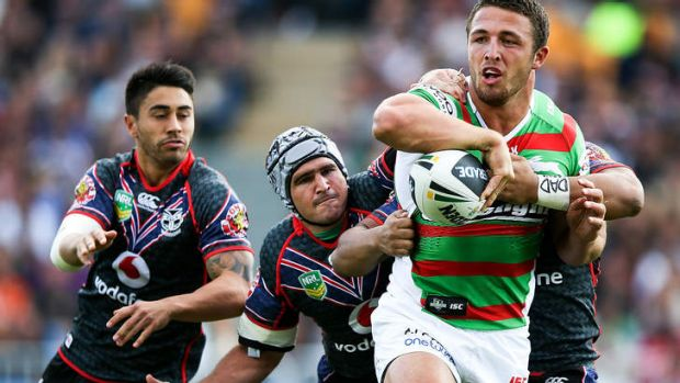 On to a winner: Sam Burgess of the Rabbitohs.