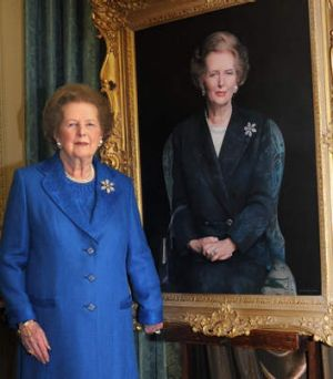 Fought dementia: Margaret Thatcher.