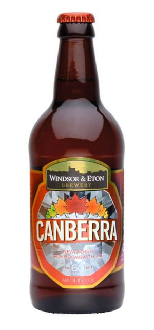 Canberra - a special jubilee beer created by a boutique brewery in the Queen's default home town of Windsor, England.
