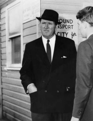 Power play: Sir Frank Packer at Mascot in October 1962.