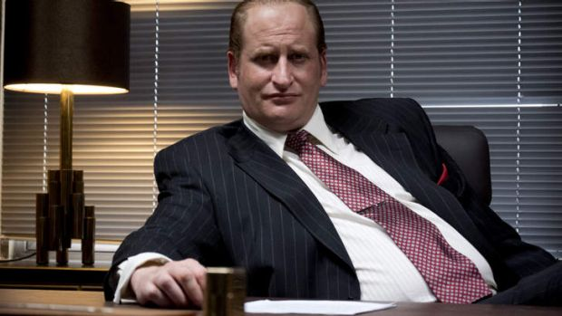 Masterful: Lachy Hulme as Kerry Packer in <i>Howzat! Kerry Packer's War</i>.