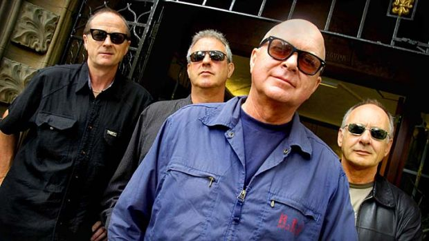 Guardians of rock: From left to right: the Angels - Rick Brewster, Buzz Bidstrup, John Brewster and Chris Bailey