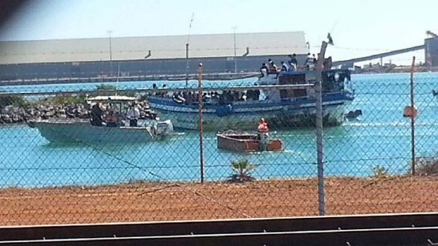 ''Rickety'': The boat in Geraldton.