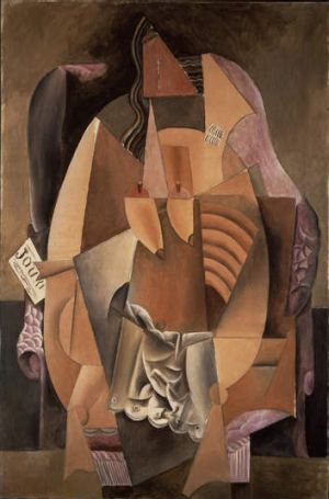 Pablo Picasso's <i>Femme assise dans un fauteuil (Eva)</i> (Woman in an Armchair), 1913, is one of the pieces to be ...