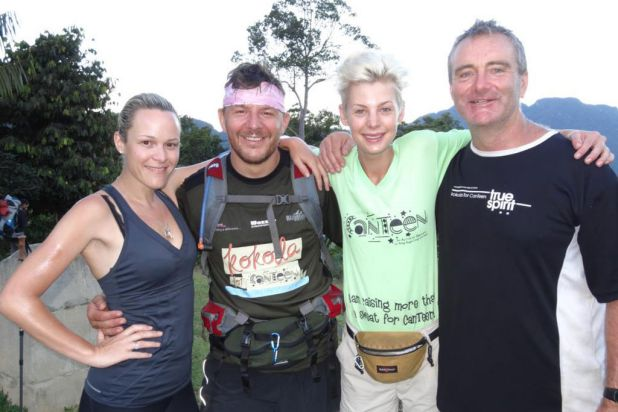 "True Spirit Adventurers: ""Just back from an awesome trek across Kokoda with Manu from MKR, Kate Peck model and presenter ..."