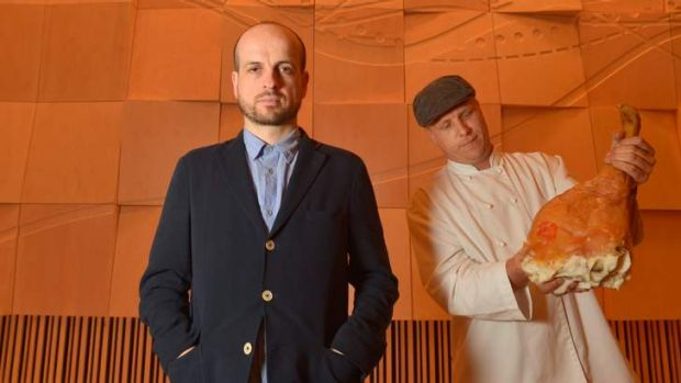 Matthew Herbert and chef Jesse Gerner are ready for the show.