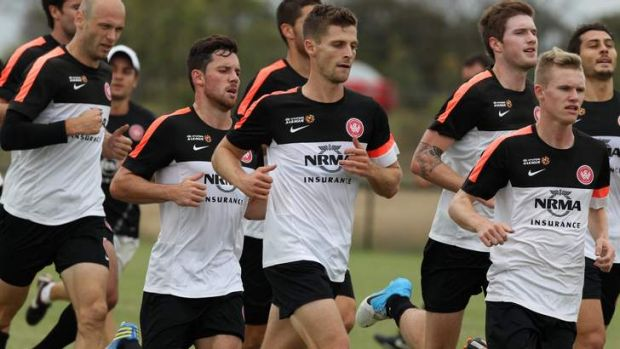 Collective goal: Shannon Cole (centre) and the Wanderers have ignored personal success for the combined good, which has ...