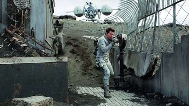 Won the war but lost the Earth: Tom Cruise is Jack Harper in a puzzling visual feast for the eyes.