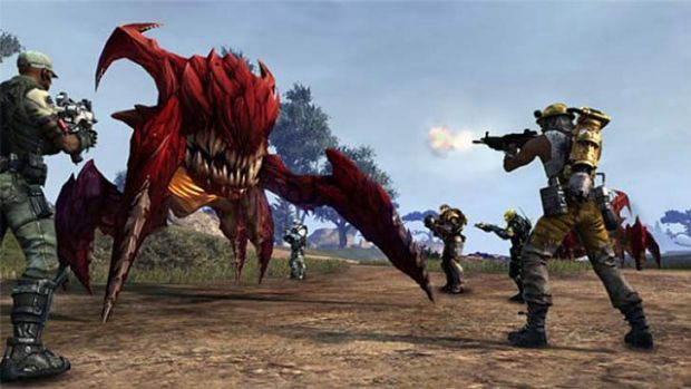 You have to battle alien creatures in the game <i>Defiance</i>.