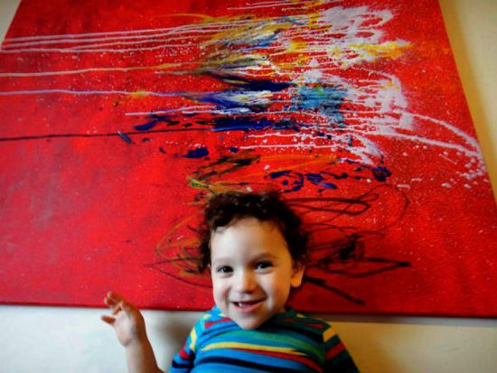 Child artist Vinnie Macris, his works are described as art in its purest form untouched from life's pollutants.