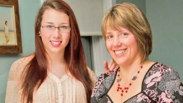 Speaking out: Leah Parsons right, wants people to be aware of her daughter's case.