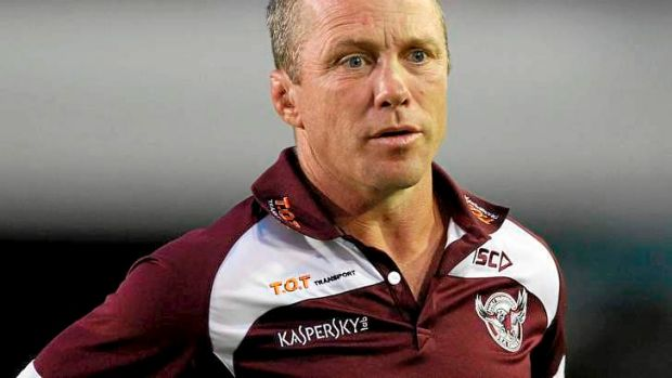 Frustrated: Manly coah Geoff Toovey.