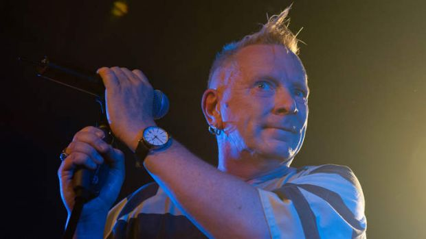 British singer John Lydon performs with his band Public image Limited