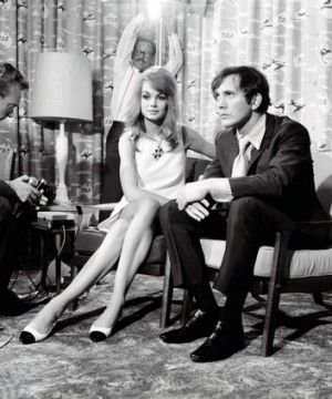 Paparazzi pain: Terence Stamp and Jean Shrimpton visit Melbourne in 1965.
