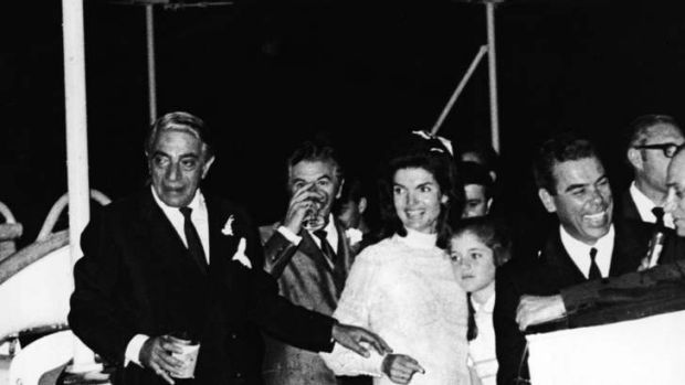 Just married: Aristotle Onassis and Jackie Kennedy.