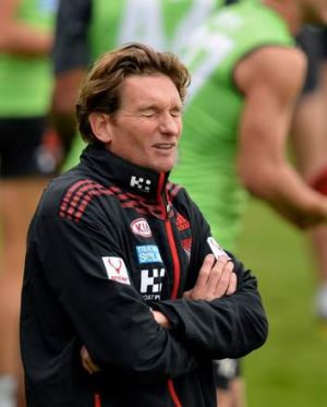 Essendon coach James Hird at training.