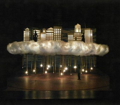 A theatre model by Peter Corrigan.