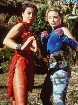 Kylie Minogue, right, starred in <i>Street Fighter</i>.