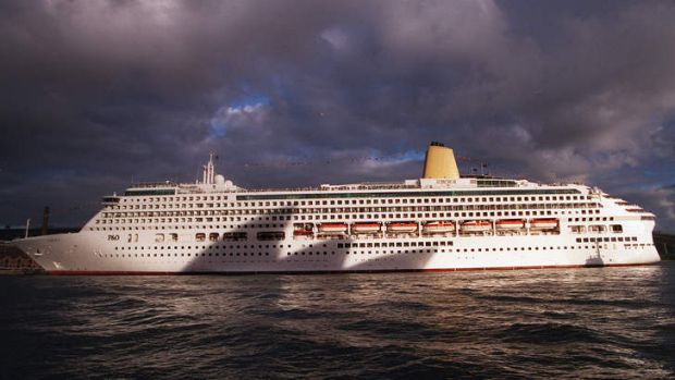 Troubled waters ... the cruise ship Aurora in the shadow of the Opera House. A British man has pleaded guilty to ...