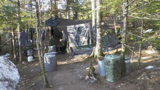 Christopher Knight's camp outside Rome, Maine, where he lived for 27 years.