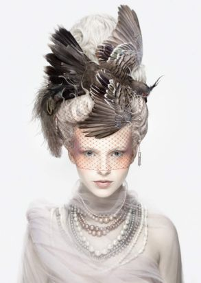 La Coiffure Oiseau is from Alexia Sinclairs new series Archetype that was inspired by the unusual life of Marie Antoinette.