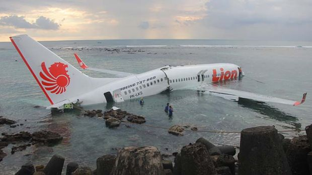 A plane has crashed off the coast of Bali.