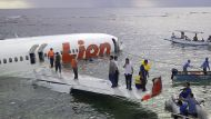 Indonesian plane plunges into sea (Video Thumbnail)