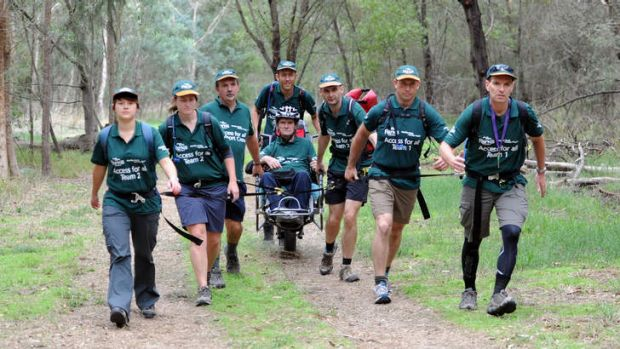 Bruce Towers and his Parks Victoria team for the Oxfam Trailwalker challenge.
