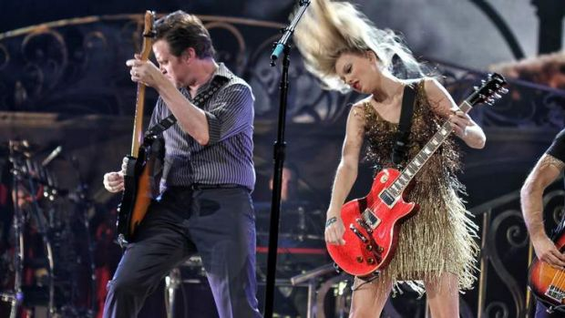 Taylor Swift in concert at Rod Laver Arena in Melbourne.