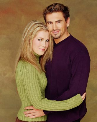Melissa Reeves, as Jennifer Horton, and Justin Melvey, as Dr Colin Murphy, in <i>Days Of Our Lives</i>.